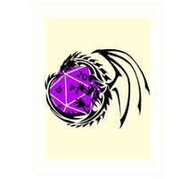 Dungeons and Dragons - Black and Purple! Art Print