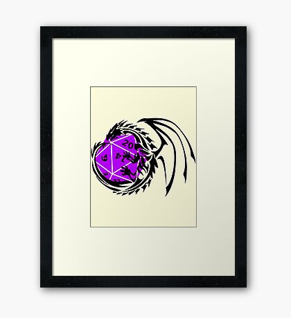 Dungeons and Dragons - Black and Purple! Framed Print