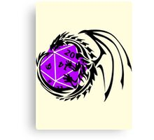 Dungeons and Dragons - Black and Purple! Canvas Print