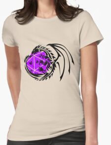 Dungeons and Dragons - Black and Purple! Womens Fitted T-Shirt