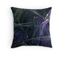 Tangled Web Green Throw Pillow