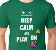 Keep calm play on Unisex T-Shirt