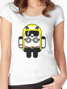 Lady Gaga goes Google Android Style!  Women's Fitted Scoop T-Shirt