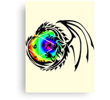 Dungeons and Dragons - Black and Rainbow (Prismatic)! Canvas Print