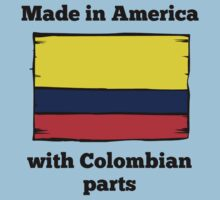 Made In America With Colombian Parts Kids Tee
