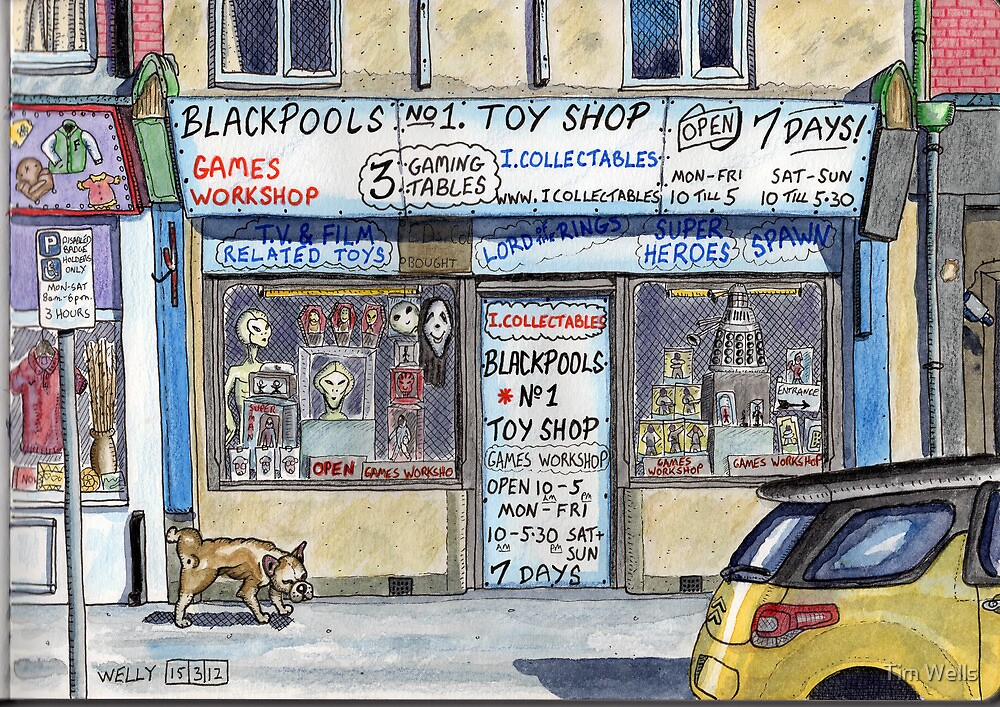 toy shop for nerds by Tim Wells