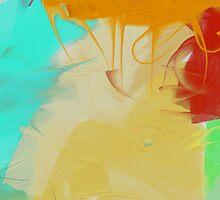 Abstract Art on Canvas iPad Case by Cherie Balowski