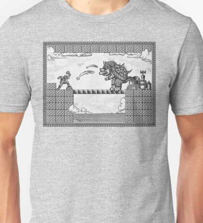 Super Mario Final Koopa Vintage Engraving Unisex T-Shirt