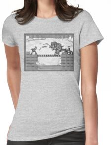 Super Mario Final Koopa Vintage Engraving Womens Fitted T-Shirt