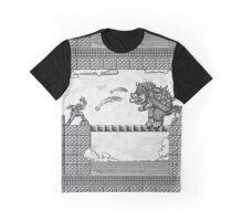 Super Mario Final Koopa Vintage Engraving Graphic T-Shirt