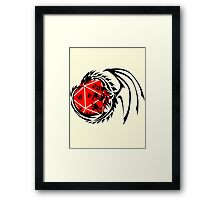 Dungeons and Dragons - Black and Red! Framed Print