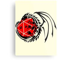 Dungeons and Dragons - Black and Red! Metal Print