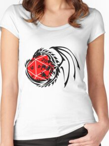Dungeons and Dragons - Black and Red! Women's Fitted Scoop T-Shirt