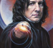 Snape, Defense against the Dark Arts - iPad case by Cynthia Blair
