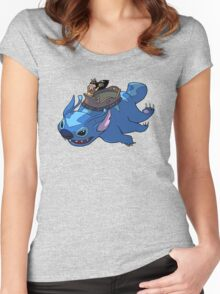 Flying Friends #2: Lilo the Last Airbender Women's Fitted Scoop T-Shirt