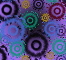 Tie Dyed Pattern iPad Case, Purples by Cherie Balowski
