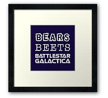 Bears Beets Battlestar Galactica Tshirt   The Office Michael Scott Dunder Mifflin Dwight Schrute Framed Print
