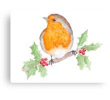 Holly Robin Canvas Print