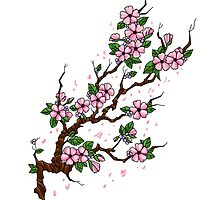Cherry Blossom Branch by screamingtiki