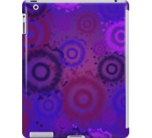 Deep Purple, Tie Dyed Circles iPad Case iPad Case/Skin