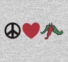 "Cinco de Mayo ""Peace Love Hot Chile Peppers"" Kids Tee"