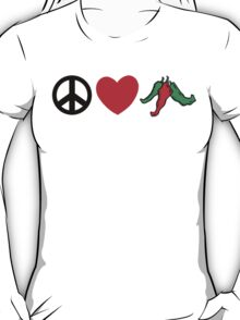"Cinco de Mayo ""Peace Love Hot Chile Peppers"" T-Shirt"