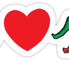 "Cinco de Mayo ""Peace Love Hot Chile Peppers"" Sticker"