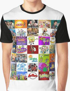 90's Kid Cartoon Mashup Graphic T-Shirt
