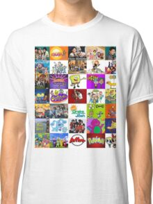 90's Kid Cartoon Mashup Classic T-Shirt