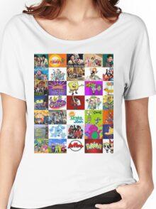 90's Kid Cartoon Mashup Women's Relaxed Fit T-Shirt