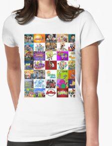 90's Kid Cartoon Mashup Womens Fitted T-Shirt