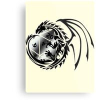 Dungeons and Dragons - Black and Silver! Metal Print