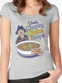 Chunk's Chunky Puke Hoops Women's Fitted Scoop T-Shirt