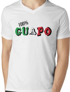 100% Guapo Mens V-Neck T-Shirt