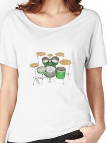 Green Drum Kit Women's Relaxed Fit T-Shirt