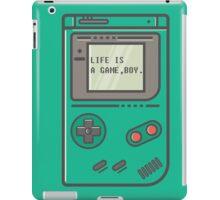 Life is a game, boy. iPad Case/Skin