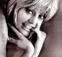 Goldie Hawn Hollywood Icon by John Springfield by esotericaart