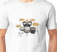 Black Drum Kit Unisex T-Shirt