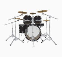 Black Drum Kit by bradyarnold