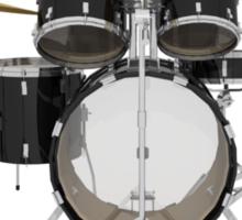 Black Drum Kit Sticker