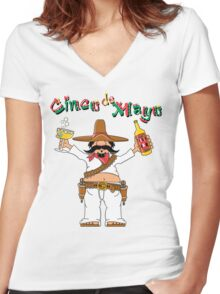 Cinco de Mayo Drinking Women's Fitted V-Neck T-Shirt