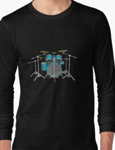 Aqua Drum Kit Long Sleeve T-Shirt