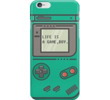 Life is a game, boy. iPhone Case/Skin