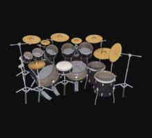 Large Black Drum Kit by bradyarnold