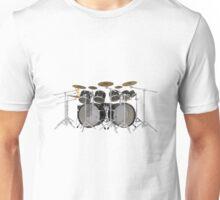Large Black Drum Kit Unisex T-Shirt