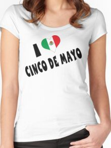 I Love Cinco de Mayo Women's Fitted Scoop T-Shirt