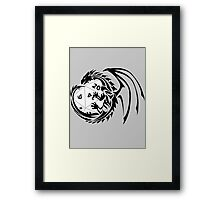 Dungeons and Dragons - Black and White! Framed Print