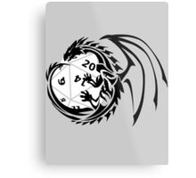 Dungeons and Dragons - Black and White! Metal Print