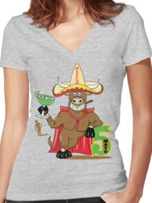 Cinco de Mayo Women's Fitted V-Neck T-Shirt