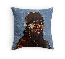 Omar Little by VanGogh - www.art-customized.com Throw Pillow
